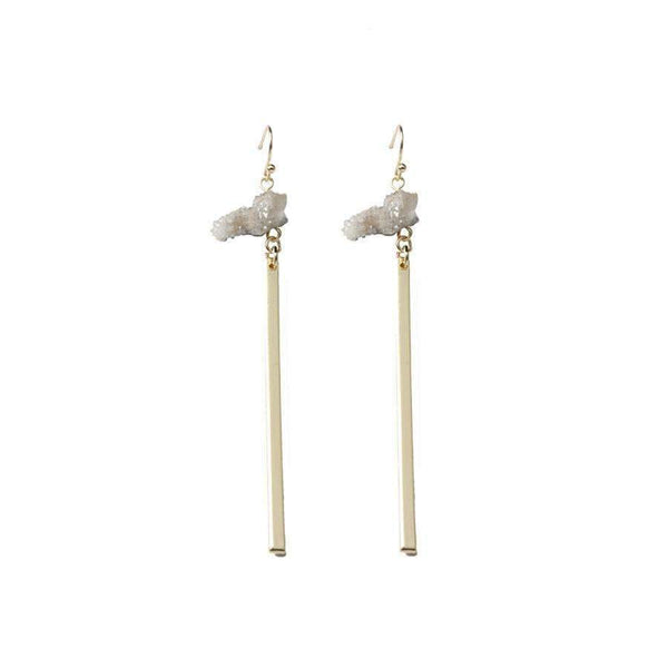 Alison natural quartz earrings - G x G Collective