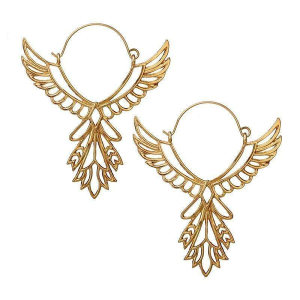 Alyce Angel Wing Hoop Earrings - Avail in silver and gold. - G x G Collective