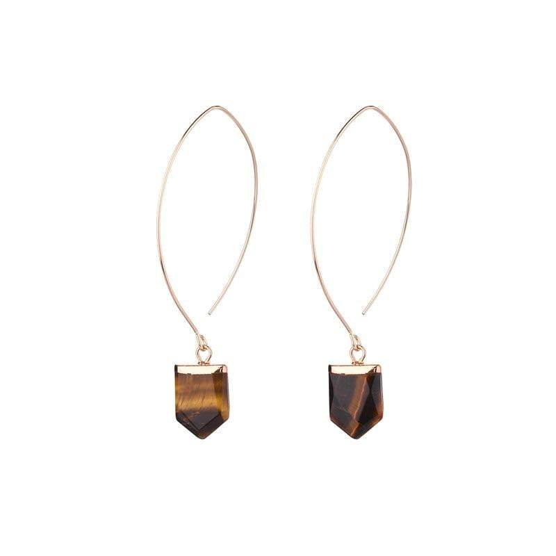Amy natural stone earrings - Avail in 7 different natural stones - G x G Collective