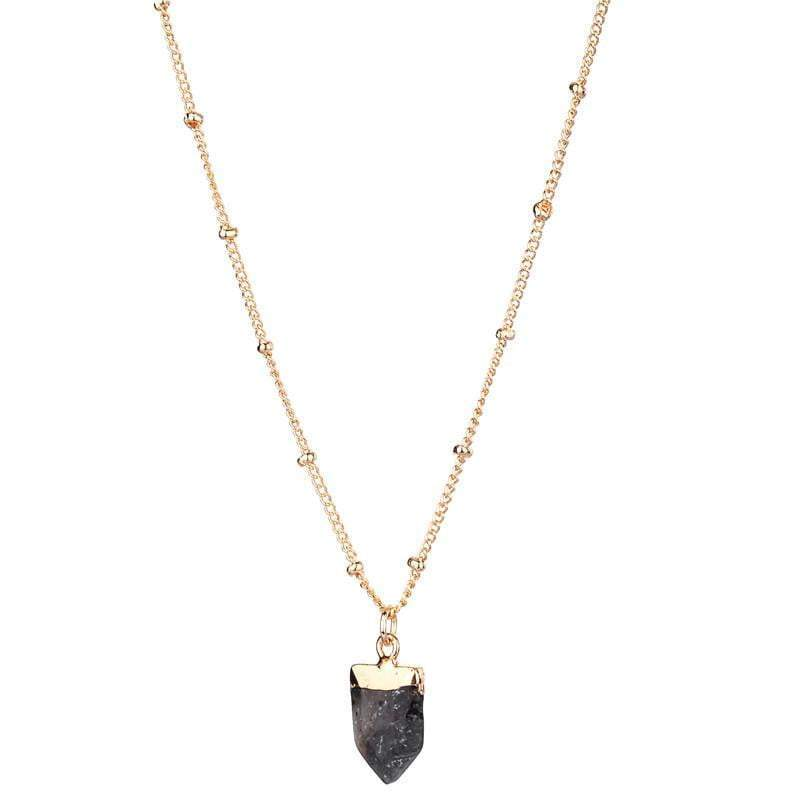 Amy natural stone necklace - Avail in 7 different stones - G x G Collective