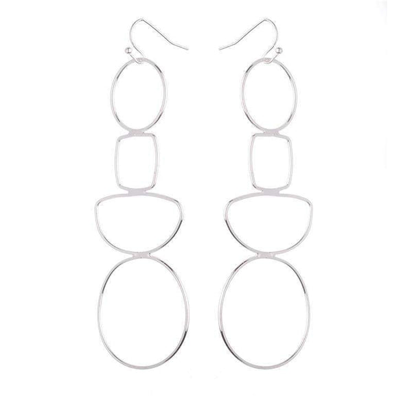 Annabelle Geometric Earrings - Avail in Silver and Gold - G x G Collective
