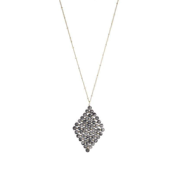 Anne Semi-precious triangle necklace  - Avail in 4 different stones - G x G Collective