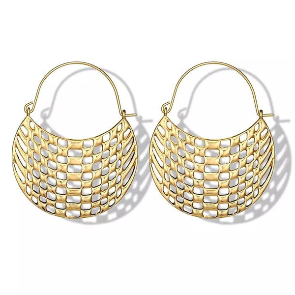 Arabella Lattice Medium Size hoop earring