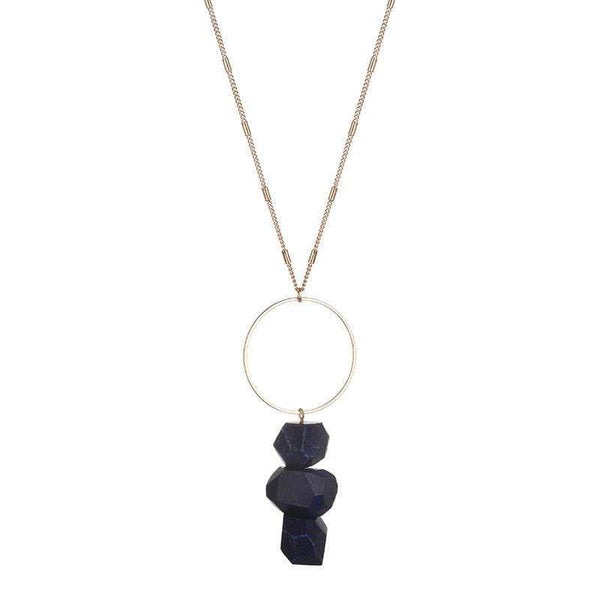 Bella Raw Quartz Necklace - Avail in Pink, Clear, Green, Grey and Blue - G x G Collective
