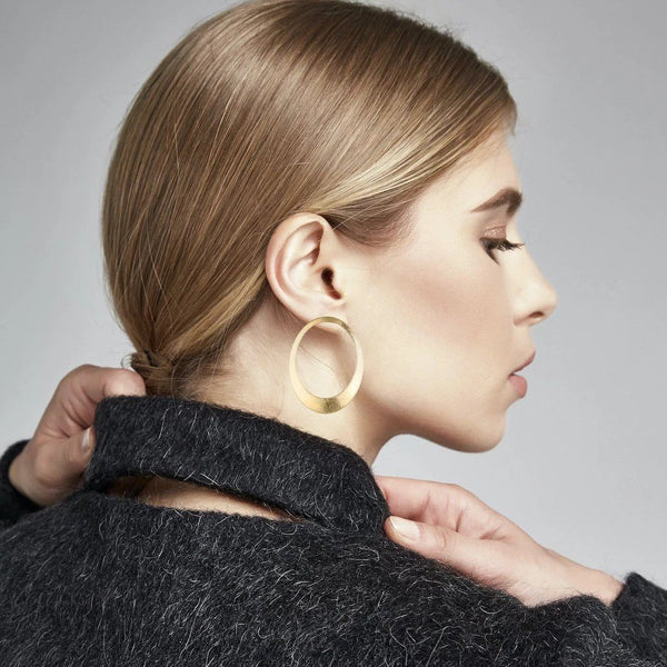 Bernadette Oval Earrings - Avail in Silver & Gold