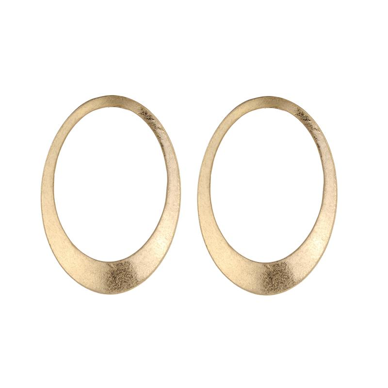 Bernadette Oval Earrings - Silver and Gold