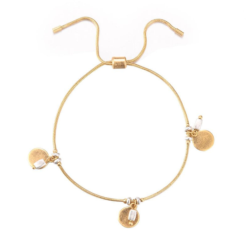 Bindia Gold Disc Bracelet