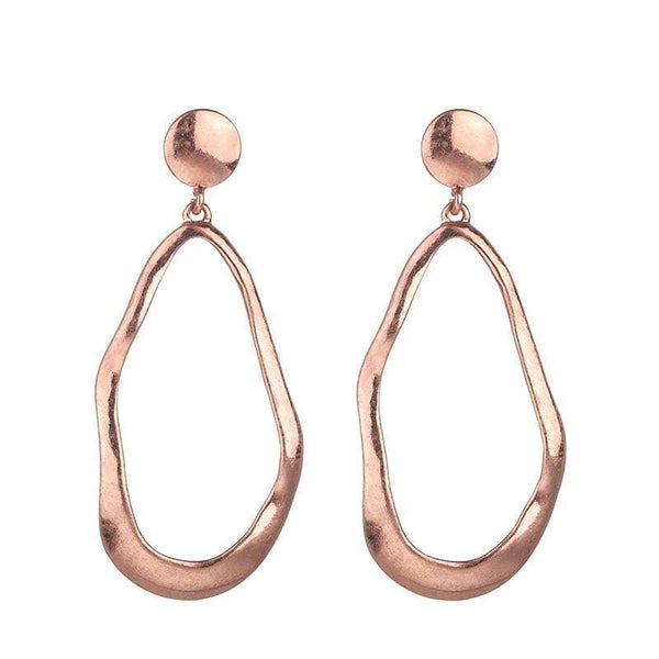 Bridget brushed metal earrings - Rose Gold - G x G Collective