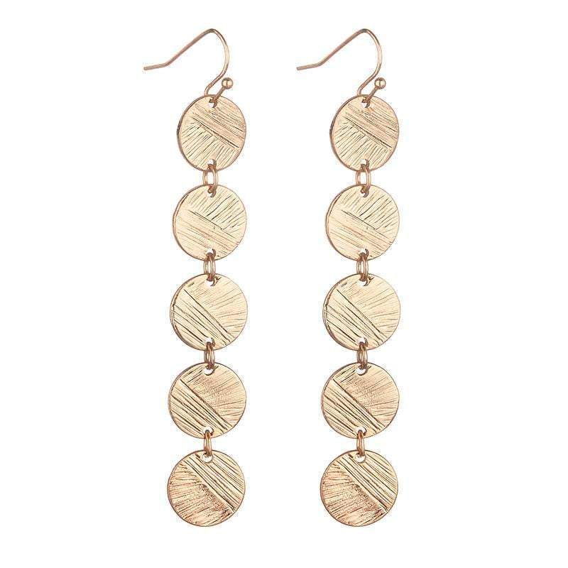 Camilla copper coin disc earrings  - Avail in silver and Gold - G x G Collective