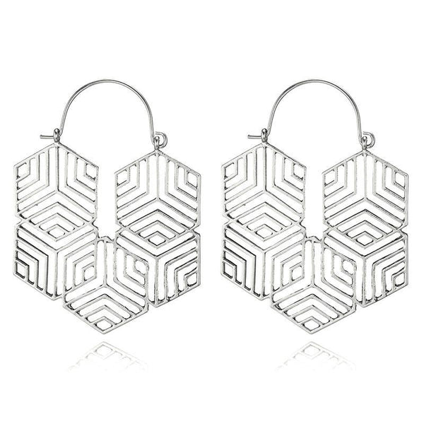 Celine Earrings - Silver & Gold