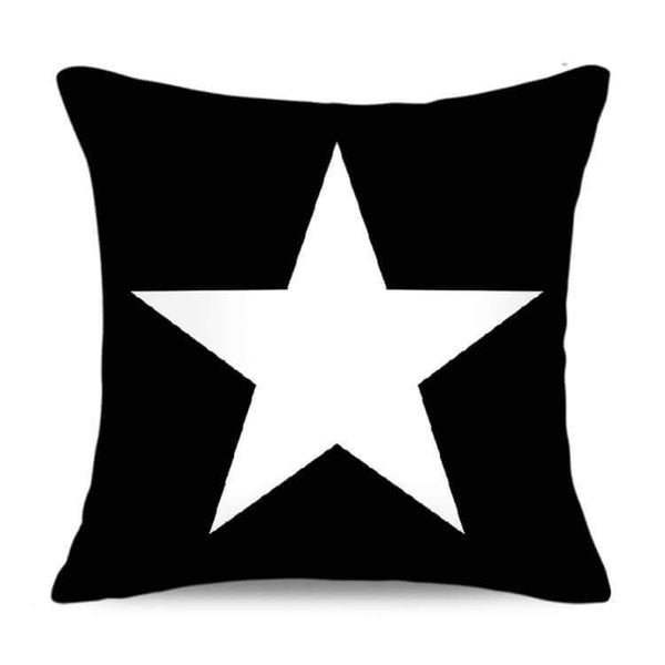 Charcoal Black Suedette Star Cushion Cover - G x G Collective