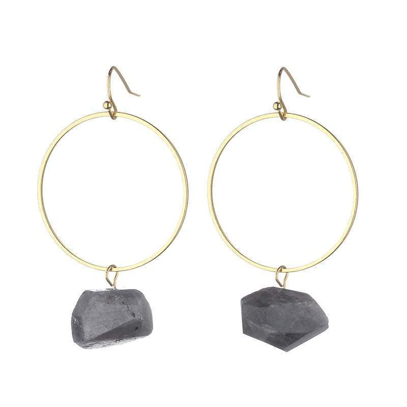 Danielle Raw Quartz earrings (Pink, Clear, Dark Grey) - Back in stock - G x G Collective