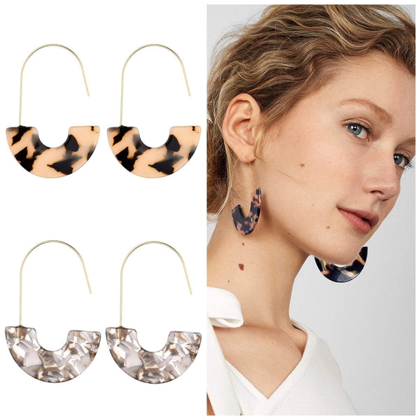 Daria Geometric Resin Earrings - Avail in 3 different colours - G x G Collective