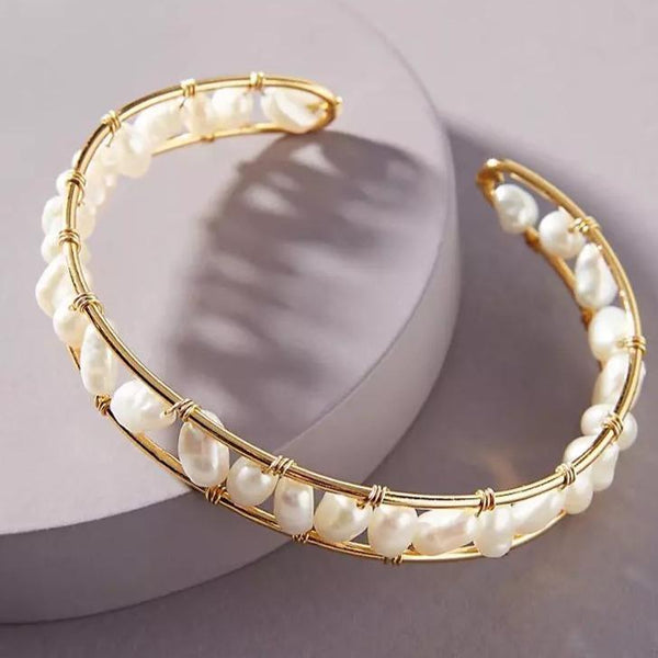 Deborah Freshwater Pearl Adjustable Bangle
