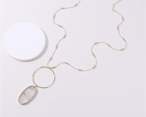 Edwina Natural Stone necklace