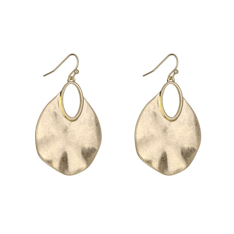 Effie Brushed Metal Earrings in Gold & Silver