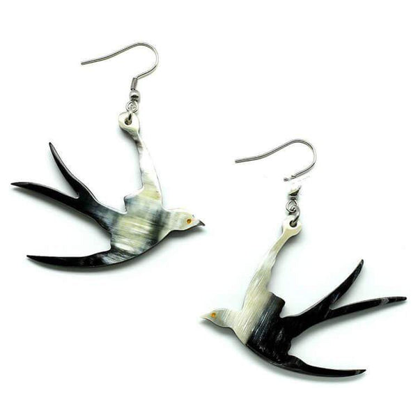 Flying Bird Horn Earrings - G x G Collective