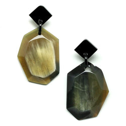 Geometric Buffalo Horn Earrings - G x G Collective