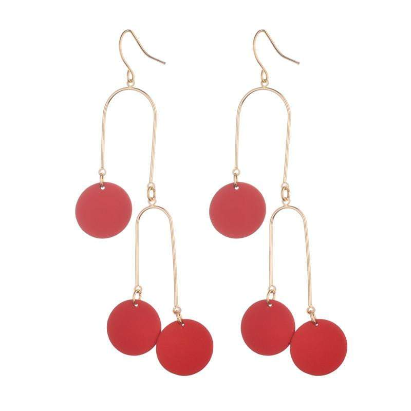 Hayley Earrings - Avail in both Red & Silver - G x G Collective