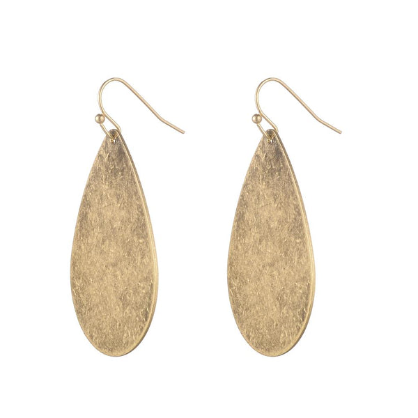 Jenny Brushed Gold Earring