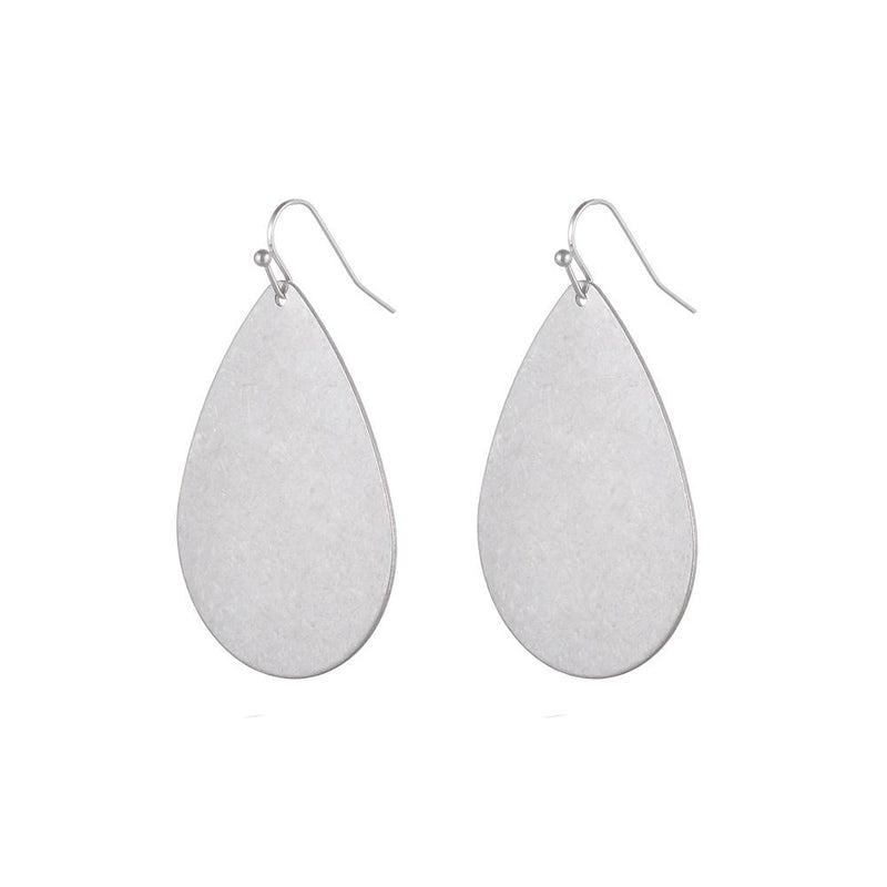 Jenny Brushed Silver Earring