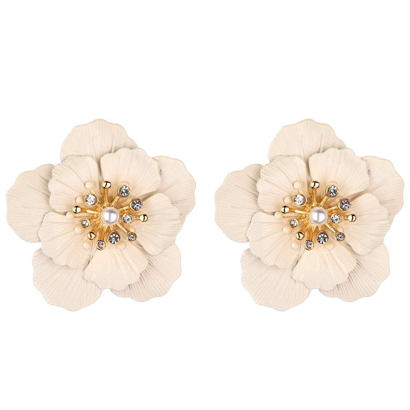 Jenny White Flower Earrings - G x G Collective