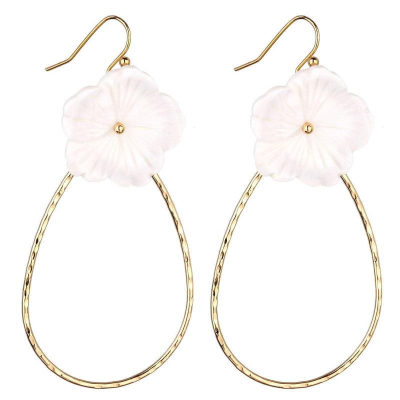 Kellie White Flower Earrings - G x G Collective