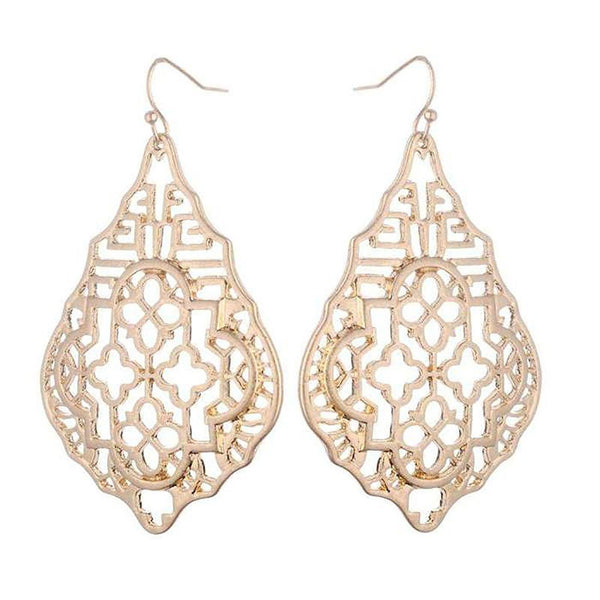 Klara Filigree Earrings - Gold, Rose Gold and Silver