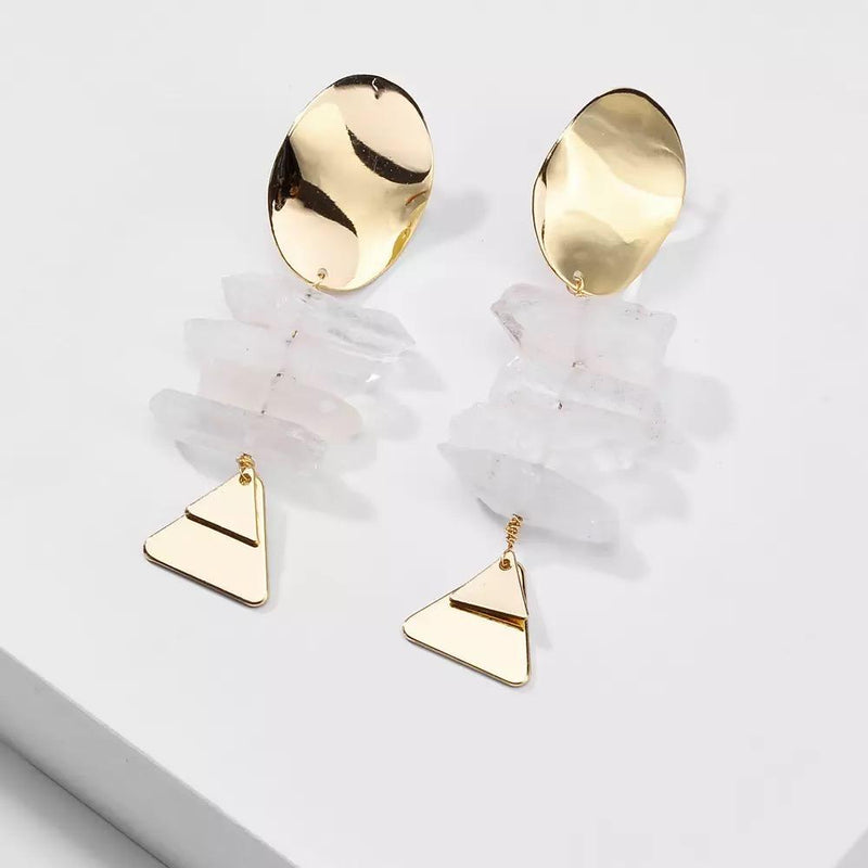 Liana Clear Natural Quartz Earrings