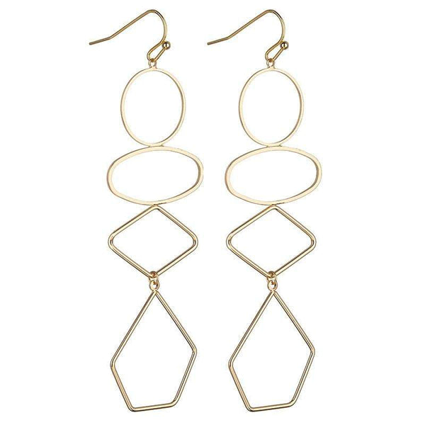 Lorna Geometric earrings Avail in Silver, Gold & Rose Gold - G x G Collective