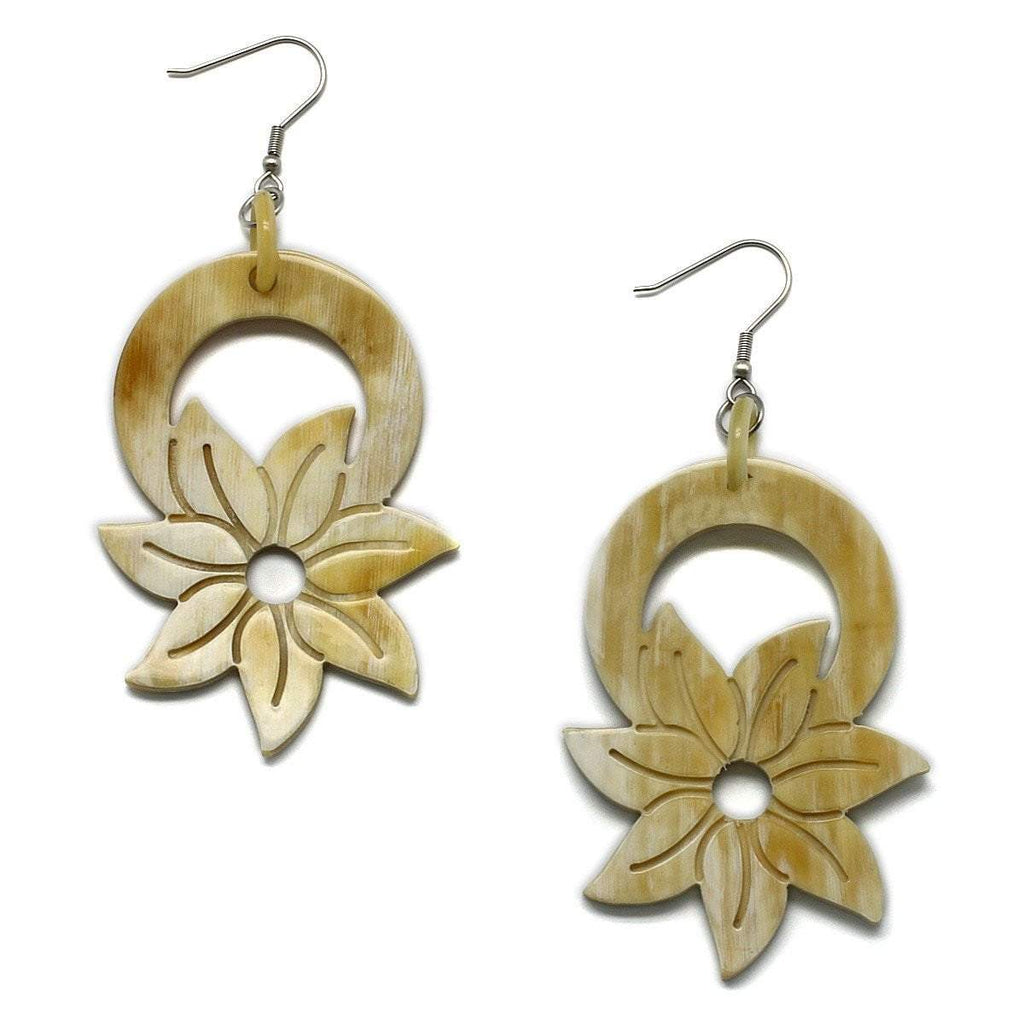 Lotus Flower Horn Earrings - G x G Collective