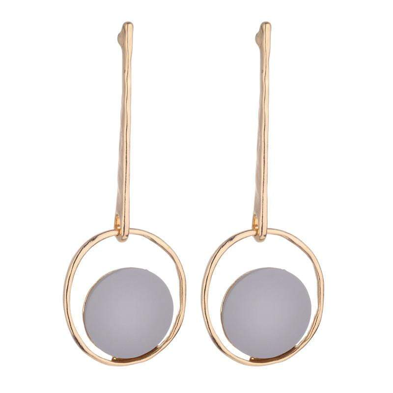 Lulu Geometric Earrings -  Avail in grey, pink and green - G x G Collective