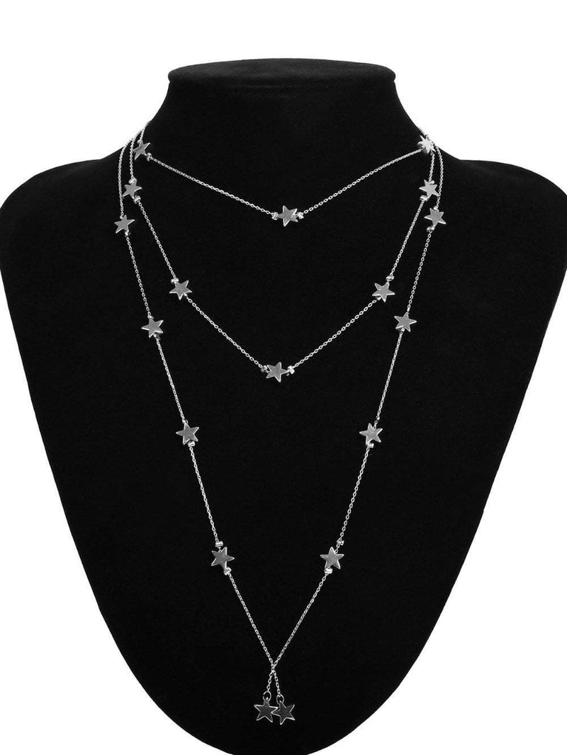 Luna Lariat star necklace - Avail in Silver & Gold - G x G Collective