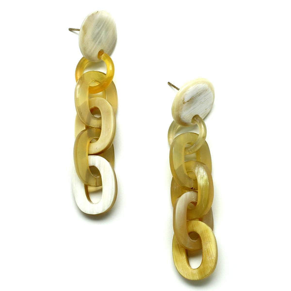 Mary stud horn chain earrings - G x G Collective
