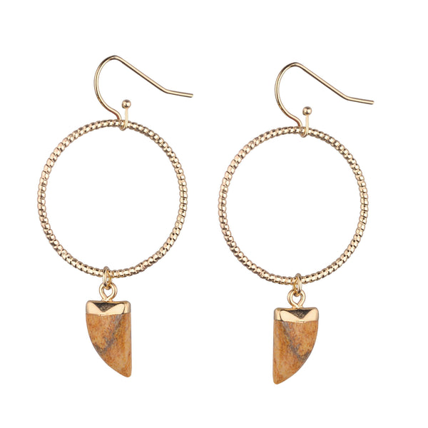 Maryanne Earrings - Avail in 9 different coloured stones - G x G Collective
