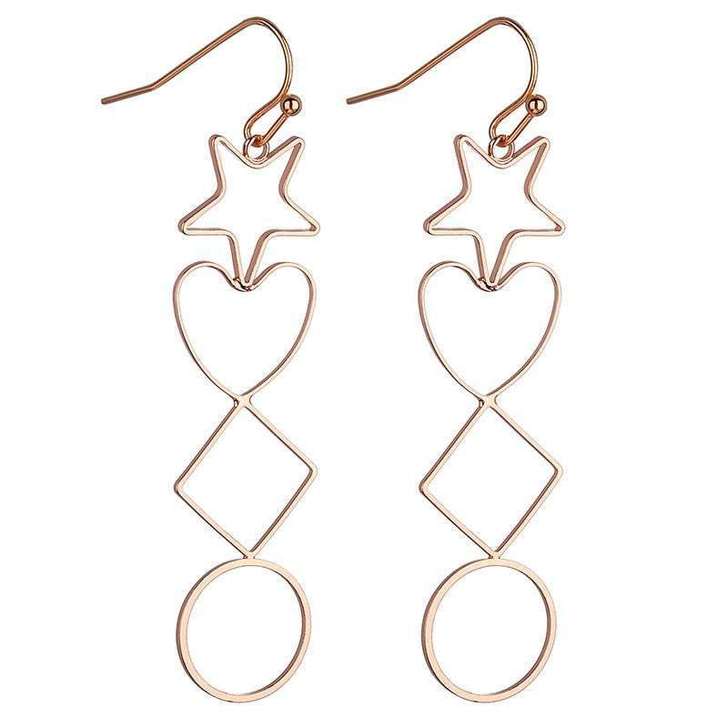 May Geometric earrings Avail in Silver, Gold & Rose Gold - G x G Collective