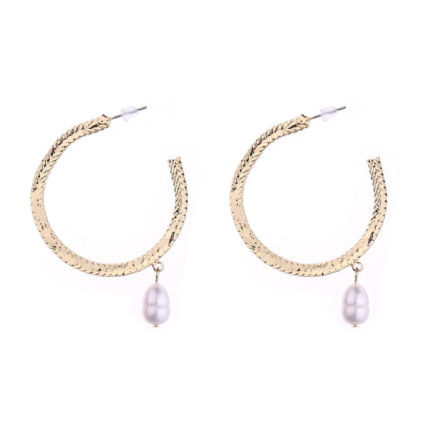 Ophelia Freshwater Pearl hoop Earrings