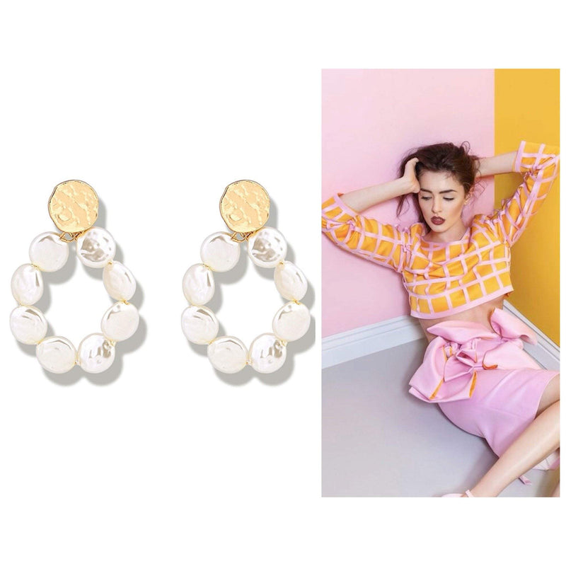 Patricia  Faux Pearl Statement Earrings - G x G Collective