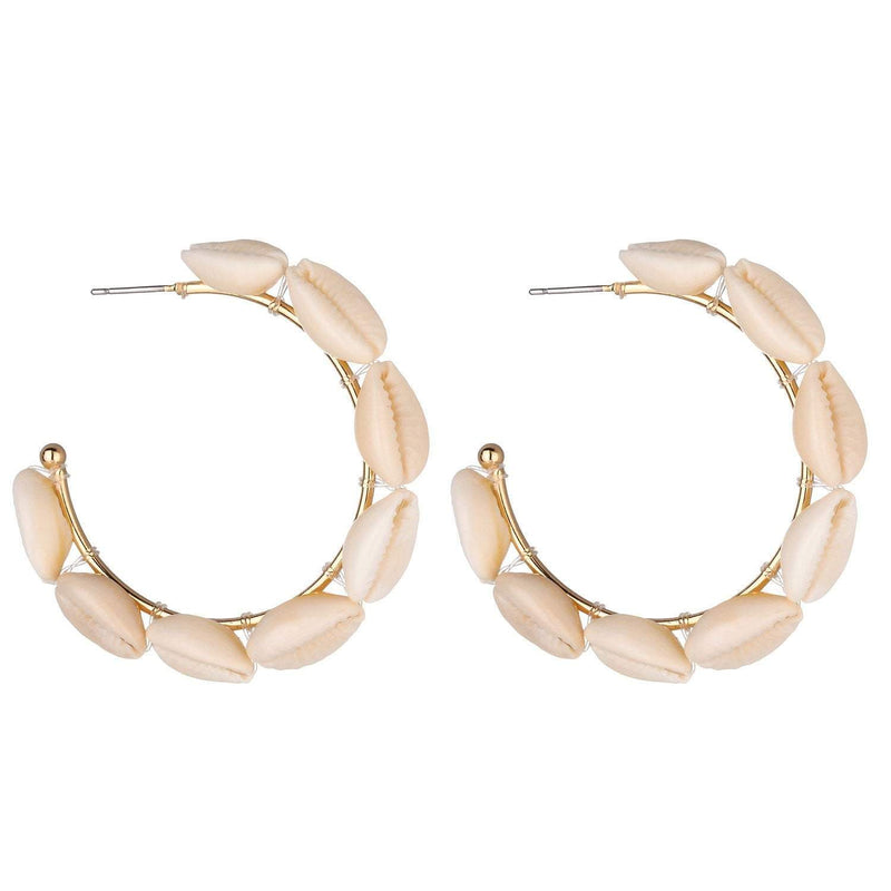Rose Large Shell Earrings - G x G Collective