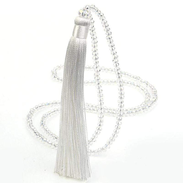 Sabrina beaded long tassel necklace - G x G Collective