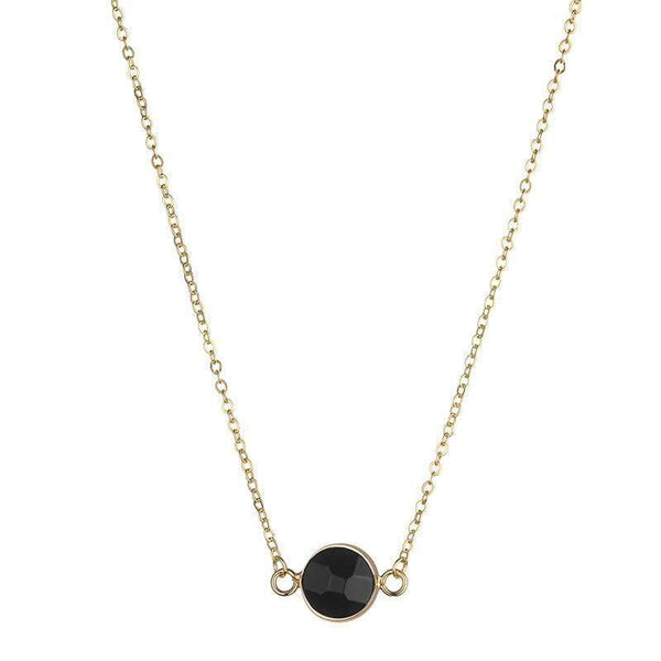 Sally Natural stone necklace - Black - G x G Collective