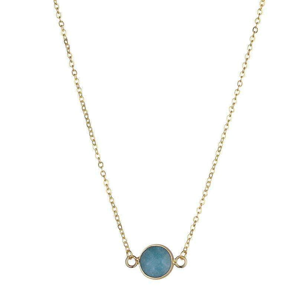 Sally Natural Stone Necklace - Blue - G x G Collective