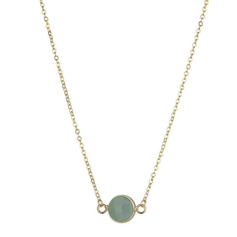 Sally Natural stone necklace - Green - G x G Collective
