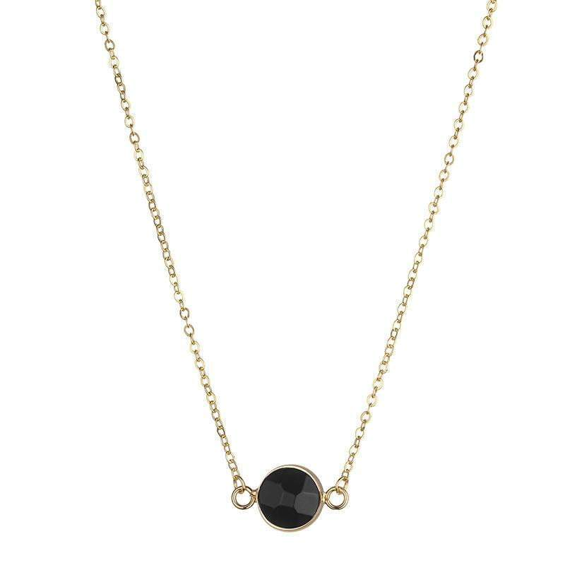 Sally Natural Stone Necklace  - Grey - G x G Collective