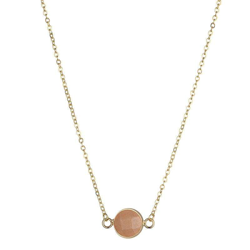 Sally Natural Stone Necklace  - Peach - G x G Collective
