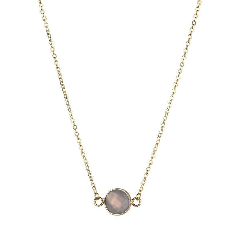 Sally Natural Stone Necklace - White - G x G Collective