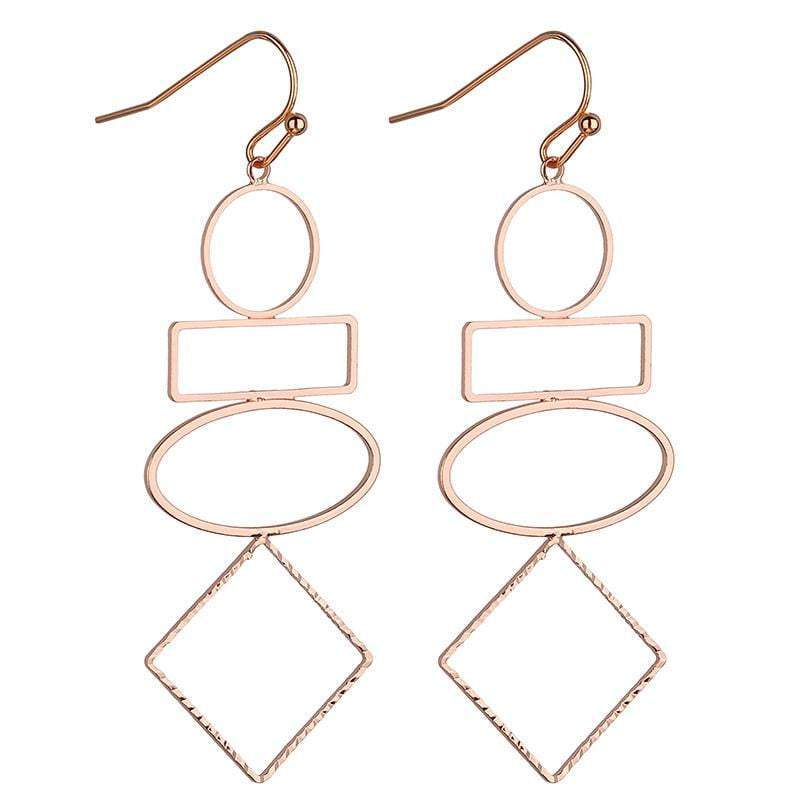 Samara Geometric earrings - Avail in Silver, Gold & Rose Gold - G x G Collective