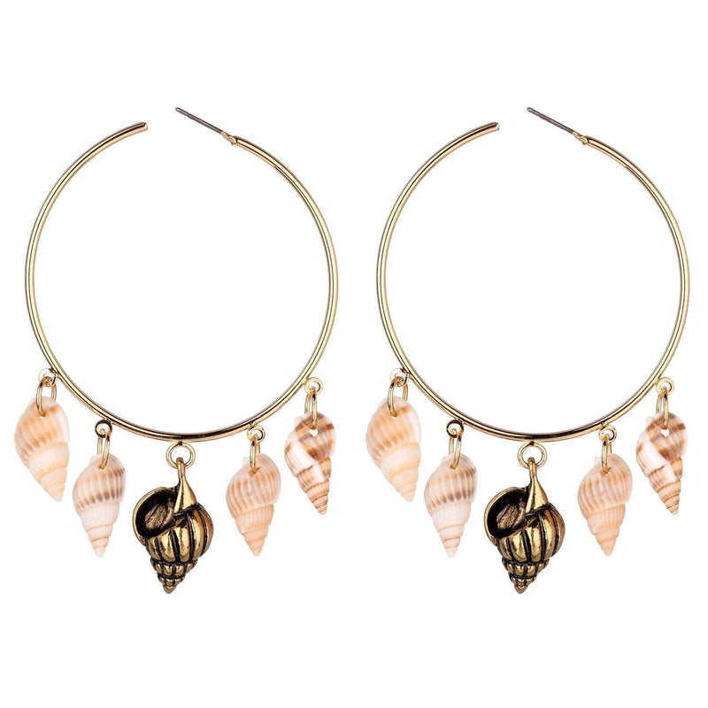 Shelley Large Natural Shell Earrings - G x G Collective