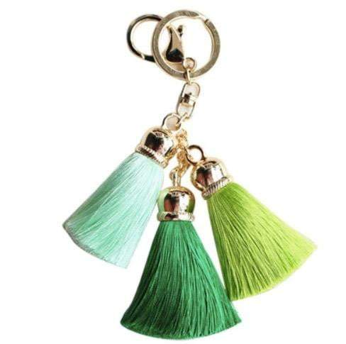 Silky three colour Tassel Key Chain/Bag Charm - G x G Collective