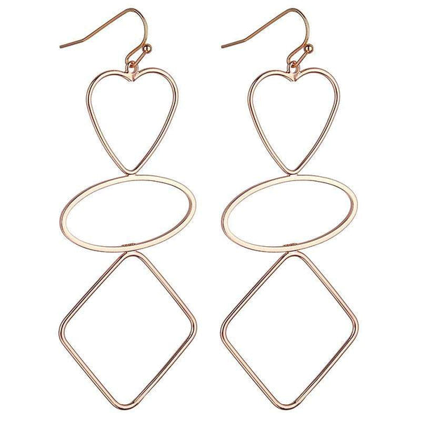 Suzette Geometric Earrings - Avail in Gold, Silver & Rose Gold - G x G Collective